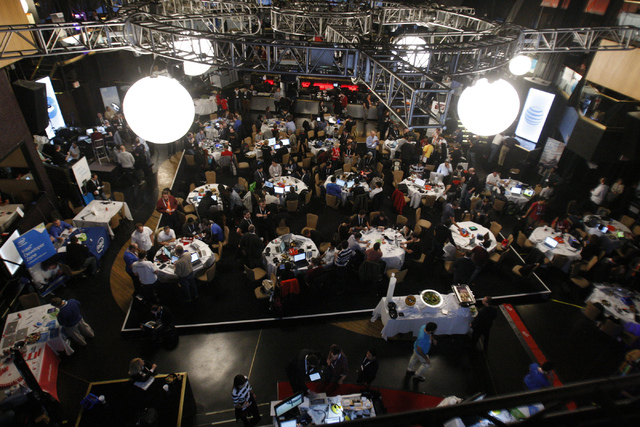 Participants compete during the 2015 AT&T Developer Summit and Hackathon at the Palms casino-hotel in Las Vegas Sunday, Jan. 4, 2015. (Erik Verduzco/Las Vegas Review-Journal)