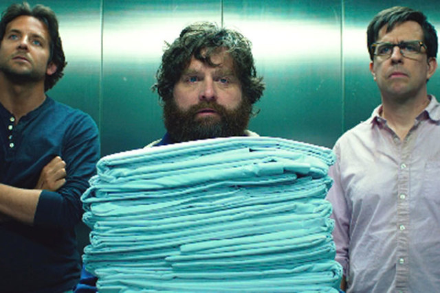 """Bradley Cooper, left, Zach Galifianakis and Ed Helms star in """"""""The Hangover Part III,"""" which was """"filmed in Las Vegas. (Courtesy)"""