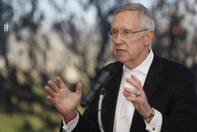 U.S. Sen. Harry Reid, D-Nev., speaks during an event at the Las Vegas Paiute Resort Dec. 22, 2014. A Reid spokesman said Wednesday, Jan. 7, 2015, that the senator is preparing for turnover at the  ...