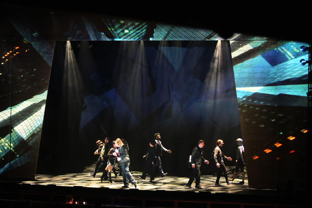 Cast members perform in touring version of Ҋoseph and the Amazing Technicolor DreamcoatӠat The Smith Center in Las Vegas on Tuesday, Jan. 20, 2014. The Andrew Lloyd Webber/Tim Rice mus ...