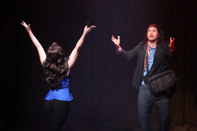 Diana DeGarmo performs as Narator, left, and Ace Young performs as Joseph in touring version of Ҋoseph and the Amazing Technicolor DreamcoatӠat The Smith Center in Las Vegas on Tuesday ...