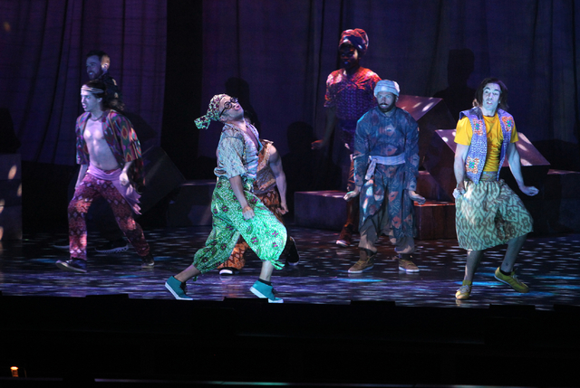 Joseph's brothers perform in the touring version of Ҋoseph and the Amazing Technicolor DreamcoatӠat The Smith Center in Las Vegas on Tuesday, Jan. 20, 2014. The Andrew Lloyd Webber/Tim ...