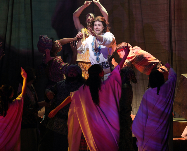 Joseph's brothers kidnap Joseph, center, played by Ace Young, in the touring version of Ҋoseph and the Amazing Technicolor DreamcoatӠat The Smith Center in Las Vegas on Tuesday, Jan. 2 ...