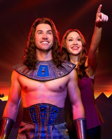"""Husband-and-wife """"American Idol"""" veterans Ace Young and Diana DeGarmo lead the cast of """"Joseph and the Amazing Technicolor Dreamcoat,"""" opening Tuesday at The Smith Center. Courtesy photo."""