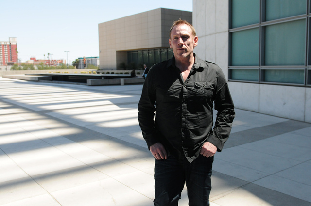 Real state developer Shawn P. Lampman leaves Lloyd George Federal Courthouse in Las Vegas after pleading guilty on tax charges for failing to file his tax returns Thursday, April 17, 2014. (Erik V ...