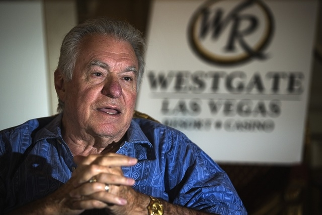 David Siegel, president and CEO of Westgate Resorts, sits for an interview at LVH, 3000 Paradise Road,  on Monday, June 30, 2014. (Jeff Scheid/Las Vegas Review-Journal)