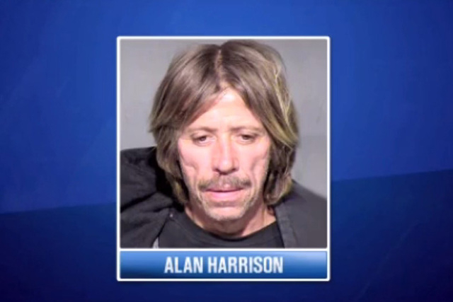 Mesa, Arizona, police said suspect David Alan Harrison was a transient who carried a very realistic fake gun and wore a ski mask when he walked into the bank in late December.(Screengrab/KTVK-3TV)