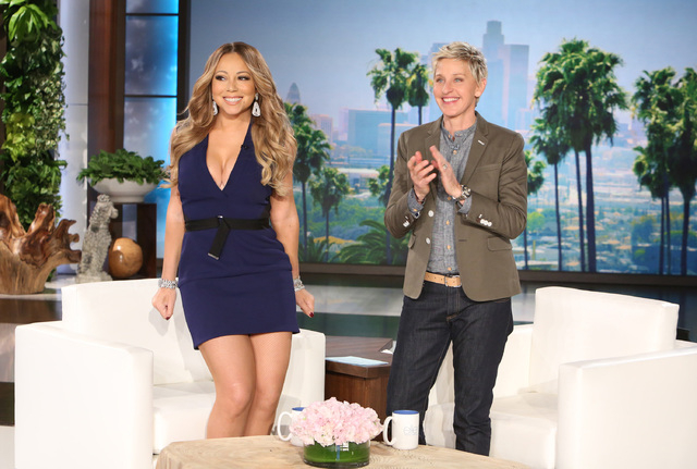"Mariah Carey announces her Caesars Palace residency on ""The Ellen DeGeneres Show."" (Courtesy)"