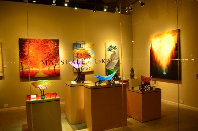 The Marshall LeKae Gallery is one of more than 30 open during Scottsdale's Thursday night ArtWalk. (Ginger Meurer/Las Vegas Review-Journal)