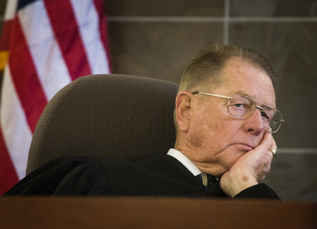 Clark County District Court Judge Judge Charles Thompson during opening statements Tuesday, Jan. 27, 2015 for Willie Darnell Mason and David Burns, at Regional Justice Center, 200 S. Lewis Avenue. ...