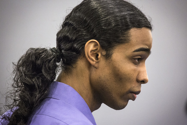 David Burns, accused of murdering a woman in wounding her daughter, during opening statements Tuesday, Jan. 27, 2015 at Regional Justice Center, 200 S. Lewis Avenue. Burns and Willie Darnell Mason ...