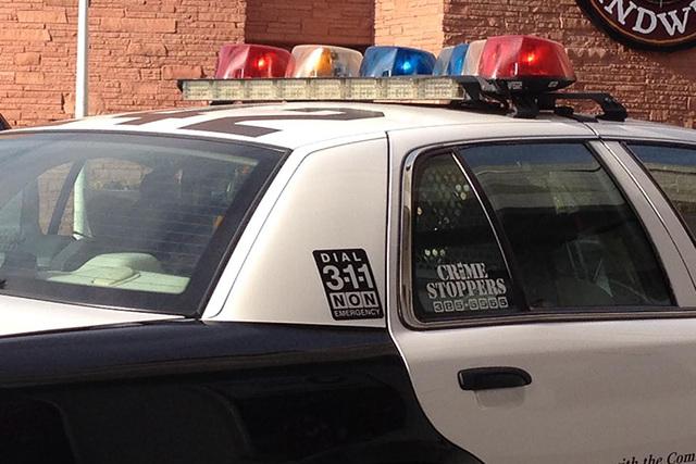 The attempted robbery happened at 4:39 p.m. at Nevada State Bank, 230 Las Vegas Blvd. S., near the intersection at Bridger Avenue, Metro spokesman Lt. Mark Reddon said. (Kristen DeSilva/Las Vegas  ...
