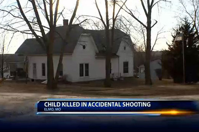 Authorities are trying to figure out what led to Monday's shooting of a 9-month-old boy by his 5-year-old brother in Elmo, Missouri. (Screengrab/KCTV)