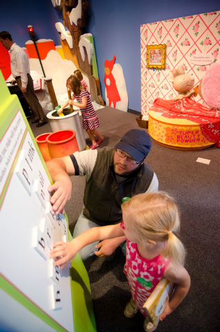 "The Discovery Children's Museum exhibit ""Storyland: A Trip Through Childhood Favorites"" features activities inspired by, among other tales, ""If You  Give a Mouse a Cookie."" Courtesy photo."
