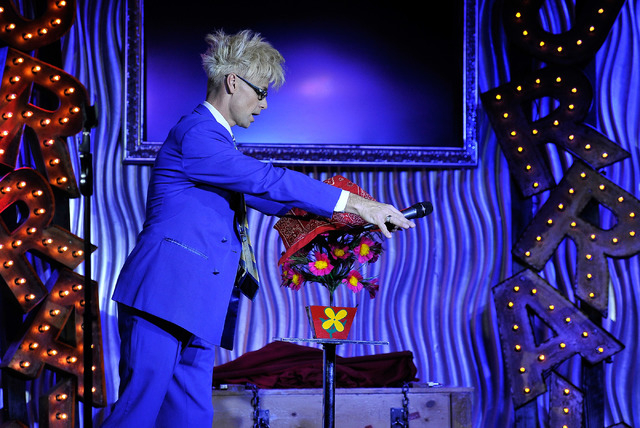 Magician and comedian Murray SawChuck (cq) performs during an afternoon show at the Planet Hollywood hotel-casino on Tuesday, Dec. 30, 2014, in Las Vegas. (David Becker/Las Vegas Review-Journal)