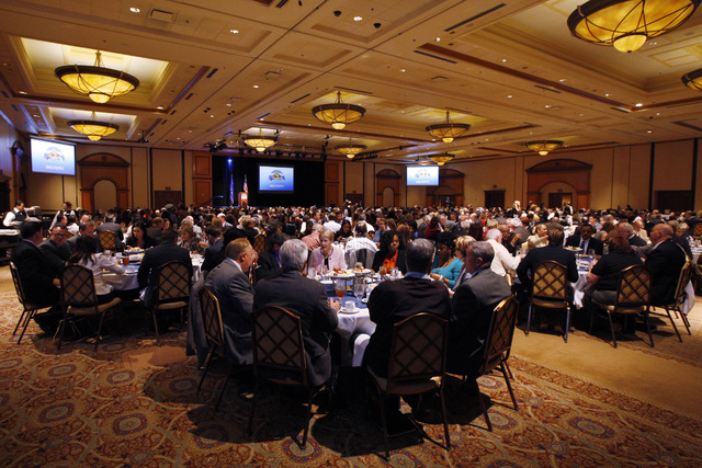 Attendees eat lunch before the North Las Vegas State of the City address Tuesday, Jan. 27, 2015 at Texas Station. (Sam Morris/Las Vegas Review-Journal)