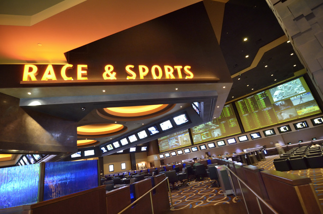 The Race and Sports Book at the Aliante hotel-casino is shown at 7300 N. Aliante Parkway in North Las Vegas on Wednesday, Feb. 5, 2014. (Bill Hughes/Las Vegas Review-Journal)
