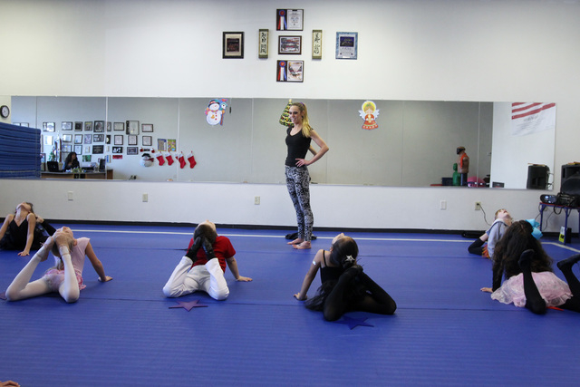 Mallory Huck leads a dance class for 6 to 10-year-olds Saturday, Jan. 3, 2015. (Sam Morris/Las Vegas Review-Journal)