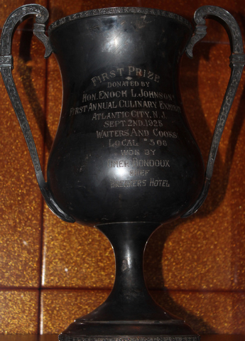 """A silver cup featured in the Prohibition-era HBO series """"Boardwalk Empire"""" joins the exhibits at downtown's Mob Museum. Courtesy photo."""