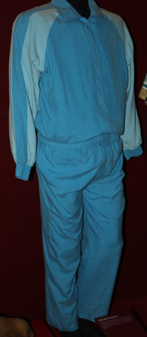 """Downtown's Mob Museum adds this track suit worn by """"Sopranos"""" character Paulie """"Walnuts"""" Gualtieri (alias actor Tony Sirico) to its collections. Courtesy photo."""