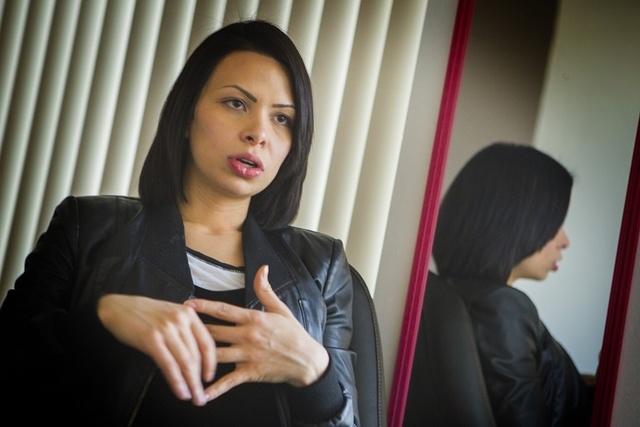 New medical marijuana cardholder Andrea Carrillo speaks about her illness Thursday, Jan. 8,2015  at Wellness Education Cannabis Advocates of Nevada, 1771 E. Flamingo. More than 8,000 Nevadans now  ...