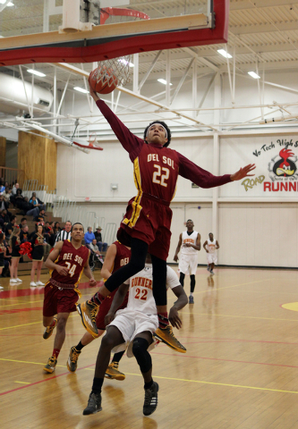 Del Sol forward JonRoss Juhas (22) goes up for a shot against Tech on Wednesday. Juhas has averaged 10.1 points, 9.3 rebounds and 2.1 steals to help the Dragons to their best start in school histo ...