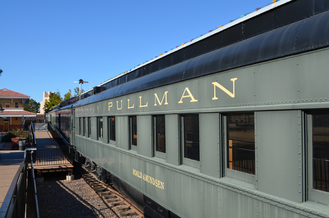 A luxury Pullman car on display at the Scottsdale McCormick-Stillman Railroad Park in Arizona was used by former presidents Hoover, Roosevelt, Truman and Eisenhower. (Ginger Meurer/Las Vegas Revie ...