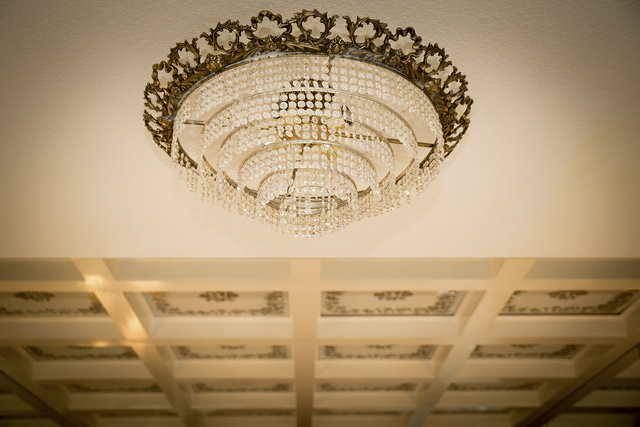 One of  the 18 chandeliers in the old Liberace home. (Tonya Harvey/Real Estate Millions)