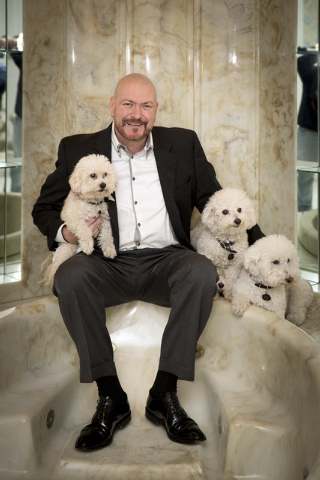 United Kingdom businessman Martyn Ravenhill spent the holidays with his dogs in Liberace's old Las Vegas home, which he purchased for $500,000 in 2013. (Tonya Harvey/Real Estate Millions)