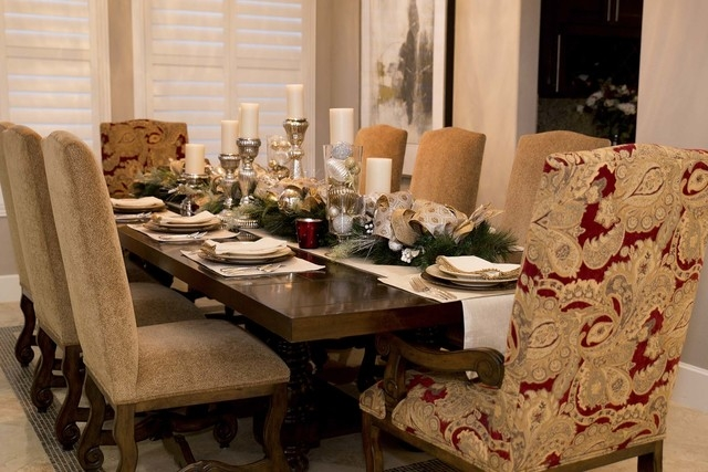 The dining room is set for the holidays. (Tonya Harvey/Real Estate Millions)