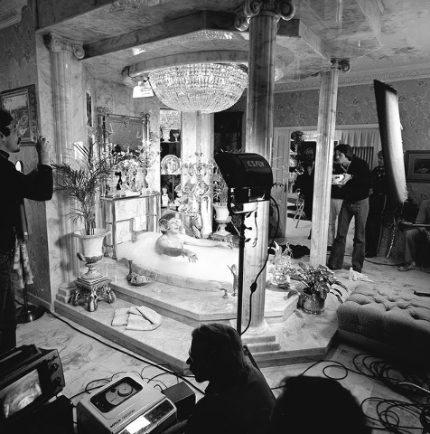 In 1978 Liberace had film crews in his house recording his lifestyle for publicity. This is how the famous bath looked then. (Courtesy/Las Vegas News Bureau)