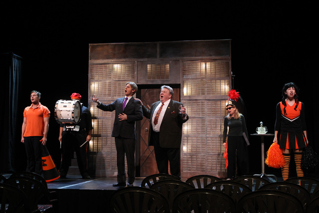 """Jesse Merlin and George Wendt perform during a dress rehearsal for a production of """"Re-animator The Musical,"""" which opened Tuesday in the Troesh Studio Theater at The Smith Center for the Performi ..."""