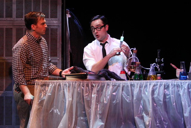 """Darren Ritchie, left, and Graham Skipper perform during a dress rehearsal for a production of """"Re-animator The Musical,"""" which opened Tuesday in the Troesh Studio Theater at The Smith Center for t ..."""
