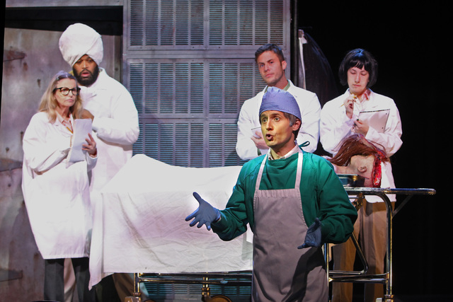 """Jesse Merlin performs as Dr. Hill during a dress rehearsal for a production of """"Re-animator The Musical,"""" which opened Tuesday in the Troesh Studio Theater at The Smith Center for the Performing A ..."""