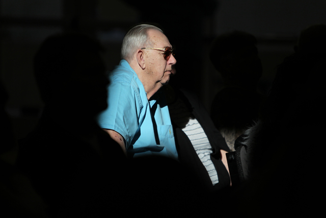 Larry Mollett listens during Sunday services at Sin City Church, 50 N. Stephanie St., in Henderson, Jan. 4, 2015. (Erik Verduzco/Las Vegas Review-Journal)