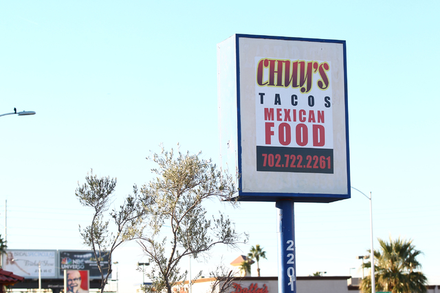 Las Vegas police and the Las Vegas Fire Department are investigating an early morning fire at Chuy's Mexican Restaurant, 2201 S. Maryland Parkway, in Las Vegas on Wednesday, Jan. 7, 2015. (Chase S ...