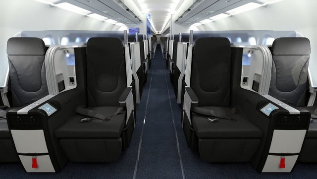 A general view of the interior of a JetBlue plane. (CNN)