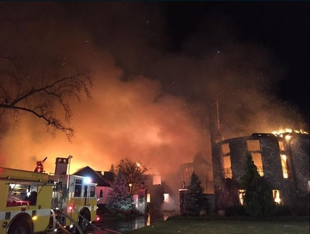 Fire destroyed a 16,000-square-foot mansion in Annapolis, Maryland, on Monday, Jan. 19, 2015. Two bodies have been found in the ruins, fire officials said. Four other people are reported missing.  ...