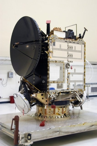 The Dawn spacecraft is seen here in clean room C of Astrotech's Payload Processing Facility. Dawn's mission is to explore two of the asteroid belt's most intriguing and dissimilar occupants: aster ...