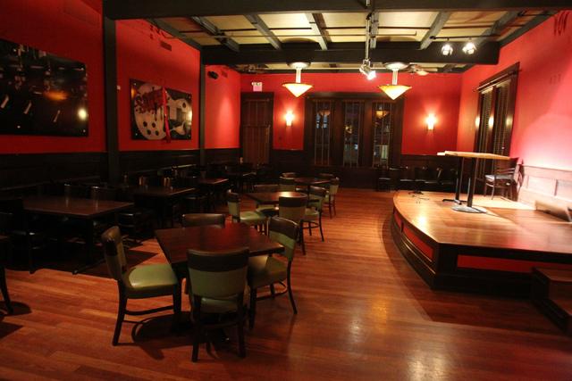 An entertainment room inside Sauce restaurant, 721 Mall Ring Circle, in Henderson, Nev., is seen on Sunday, Dec. 28, 2014. (Erik Verduzco/Las Vegas Review-Journal)