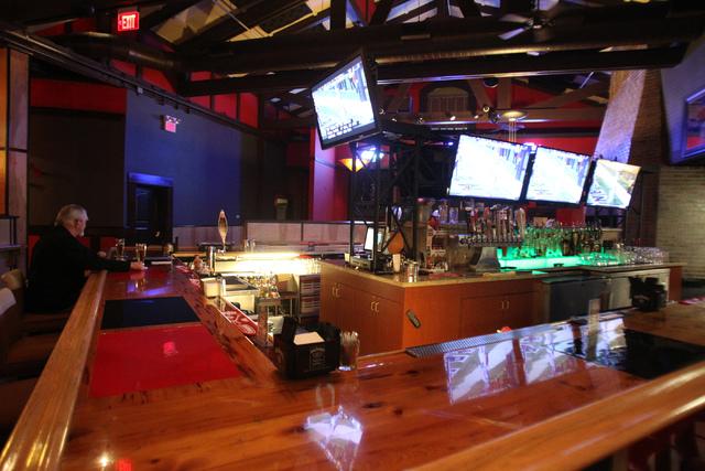 The bar area inside Sauce restaurant, 721 Mall Ring Circle, in Henderson, Nev., is seen on Sunday, Dec. 28, 2014. (Erik Verduzco/Las Vegas Review-Journal)