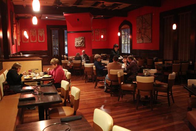 The dining room inside Sauce restaurant, 721 Mall Ring Circle, in Henderson, Nev., is seen on Sunday, Dec. 28, 2014. (Erik Verduzco/Las Vegas Review-Journal)
