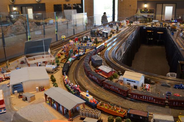 Model railroad sets fill the 10,000-square foot  model railroad building at the Scottsdale McCormick-Stillman Railroad Park. (Ginger Meurer/Las Vegas Review-Journal)