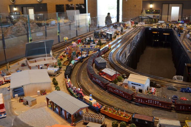 Model railroad sets fill the 10,000-square foot  model railroad building at the Scottsdale McCormick-Stillman Railroad Park. (Ginger Meurer/Las Vegas Review-Journal)