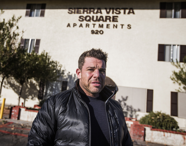 Siegel Group President Stephen Siegel  stands in front of Sierra Vista Square Apartments, 920 Sierra Vista Drive, near the Las Vegas Convention Center on Friday, Jan,2, 2015. The company recently  ...