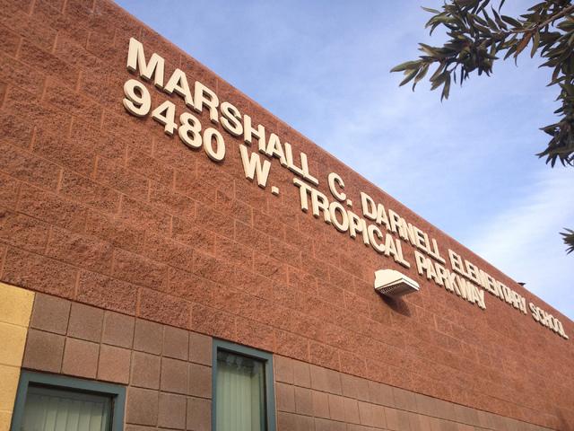 Darnell Elementary School in Las Vegas is seen on Tuesday, Dec. 16, 2014. (Sandy Lopez/View)