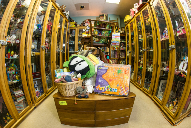 Cabinets brim with merchandise at Not Just Antiques. (Donavon Lockett/View)