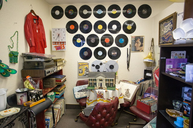 Music memorabilia and other items are displayed at Not Just Antiques. (Donavon Lockett/View)