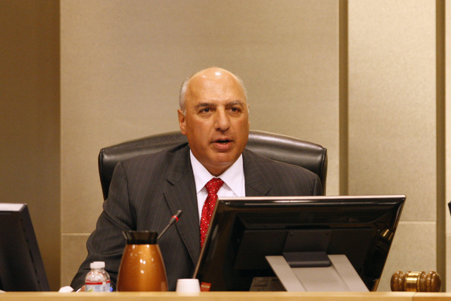 Councilman Stavros Anthony speaks as a vote approaches on a proposed soccer stadium during a Las Vegas City Council meeting Wednesday, Oct. 1, 2014. On Tuesday, Jan. 20, Anthony announced his cand ...