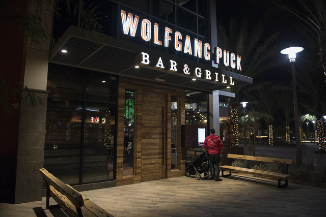 The exterior of Wolfgang Puck Bar & Grill in Downtown Summerlin in Las Vegas is shown Saturday, Jan. 10, 2015. (Martin S. Fuentes/Las Vegas Review-Journal)